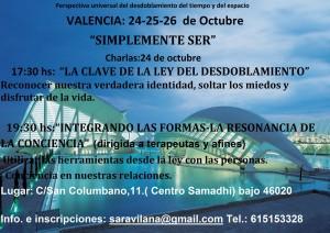 """Charlas: """"Simplemente Ser"""" (Ley del Desdoblamiento del tiempo) @ Valencia   Comunidad Valenciana   España"""