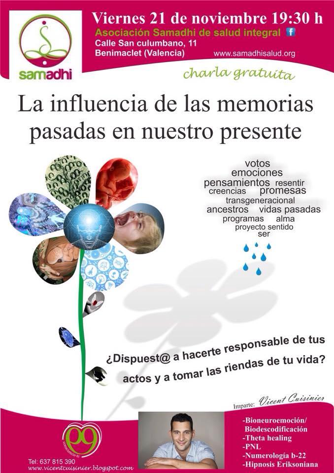 """Charla gratis: """"La influencia de las memorias pasadas en nuestro presente"""" @ Valencia   Comunidad Valenciana   España"""