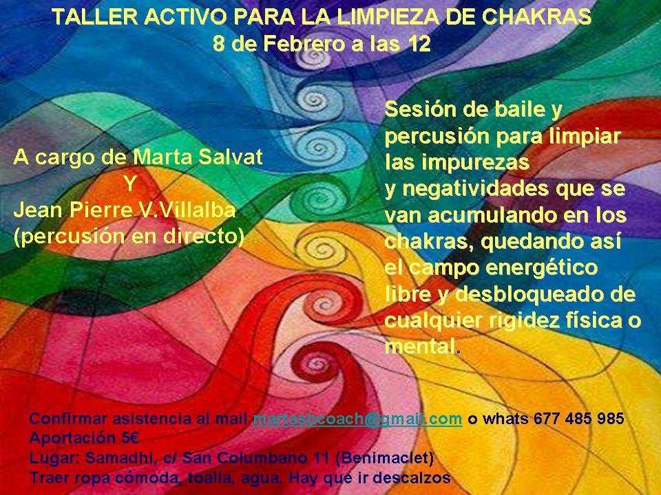Taller Activo para la Limpieza de Chakras  @ C/San Columbano 11, Valencia